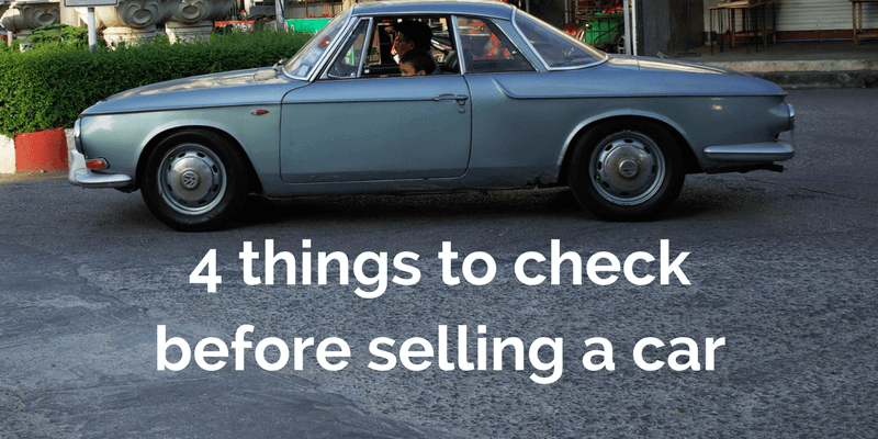 4 things to check before selling a damaged car