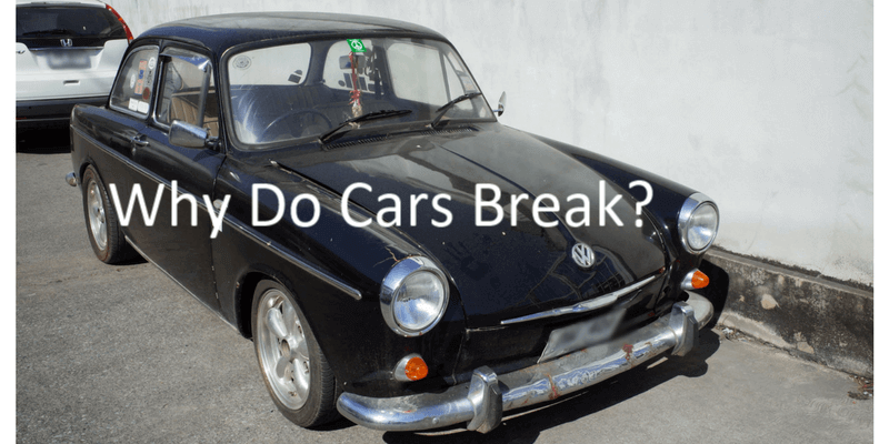 why do cars break down and how to sell a non runner car